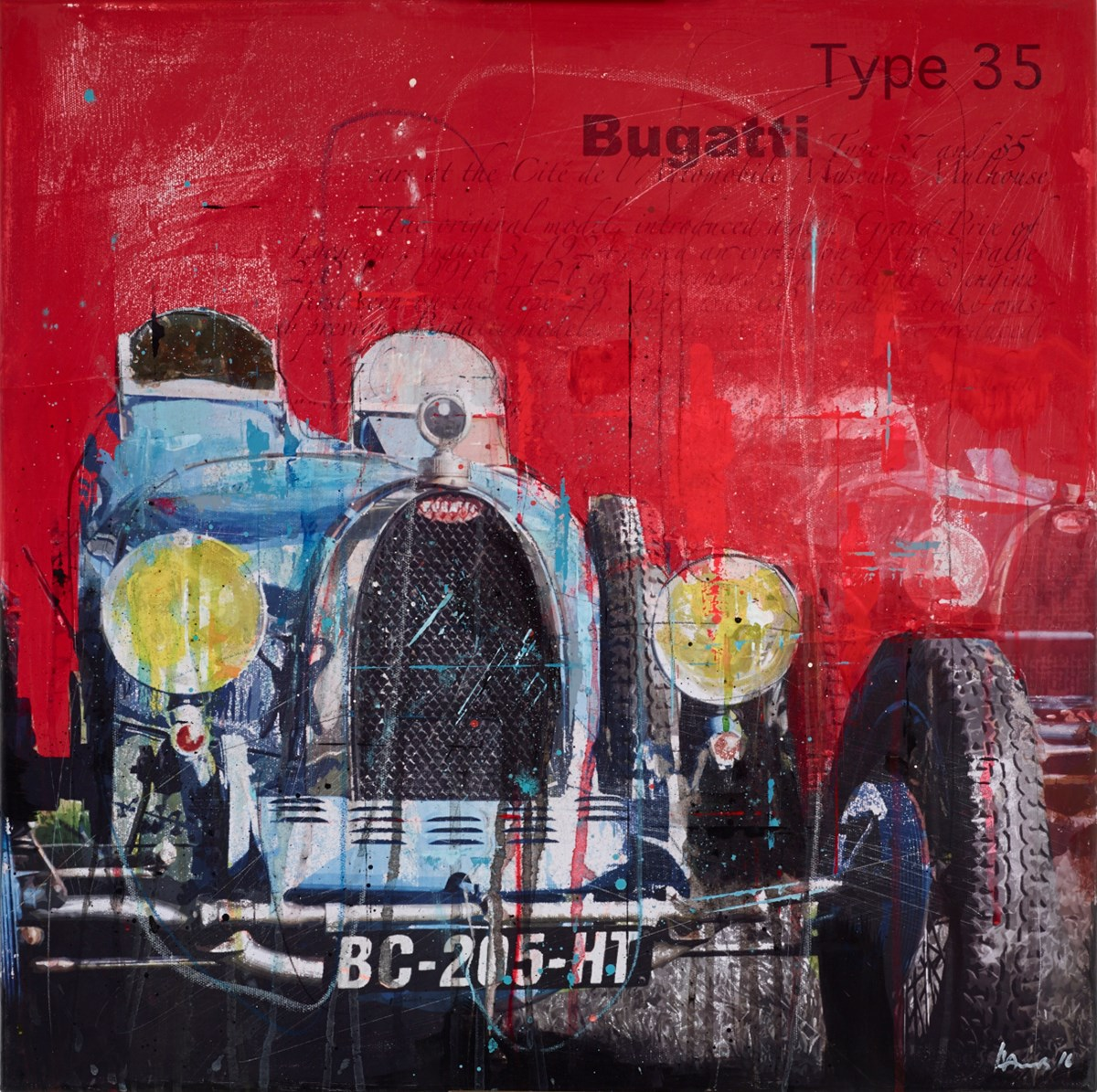 Bugatti RL665 by markus haub -  sized 24x24 inches. Available from Whitewall Galleries